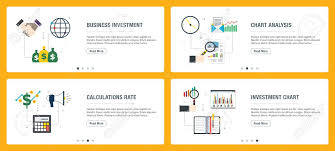 Sis Charts Vector Set Of Vertical Web Banners With Business Investment