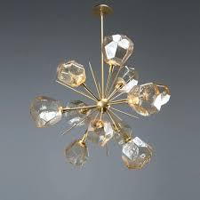 hand blown glass chandelier gem starburst chandelier wow blown hand blown glass pendant light fixtures