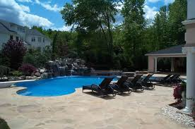 Backyard Pool Designs Landscaping Pools Simple Custom Swimming Pool Spa Design NJ K C Land Design Construction