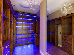Led Closet Lighting Ideas With Rods Opened Shelves Drawers Large Mirror  Under Crystal Chandelier: ...
