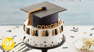 How To Make A Graduation Tassel Cake Wilton Youtube