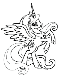 my little pony celestia coloring pages coloring pages princess rearing in my little pony coloring page