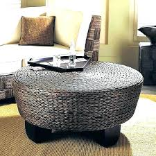 white wicker coffee table white wicker coffee table unique round outdoor side within plan