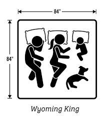 wyoming king this size mattress is 84u2033x 84u2033 wyoming king78