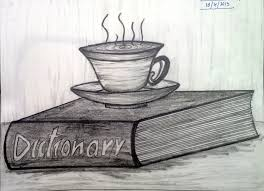 tea cup on a book pencil shading avec stack of books pencil 28 collection of 10th drawing book