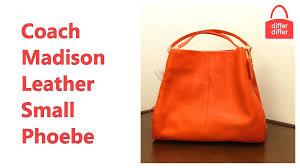 Coach Madison Leather Small Phoebe Shoulder Bag 34495 - YouTube