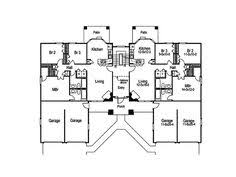 images about multi family house plans on Pinterest   House    Pasadena Multi Family Home Plan D    House Plans and More