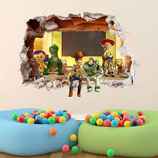 Image Is Loading TOY STORY WALL STICKER 3D BOYS GIRLS BEDROOM