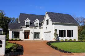 Captivating White Painted Brick House