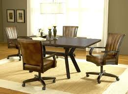 dining chairs with casters swivel dinette tilt room