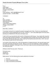 Property Manager Cover Letter Management Sample Digital Media