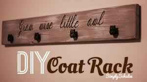 Cute Coat Racks DIY Hand Painted Coat Rack simplyschulze 27