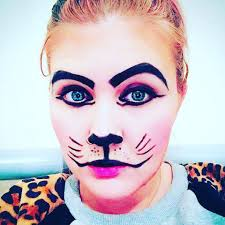lovely cat face makeup idea to do yourself