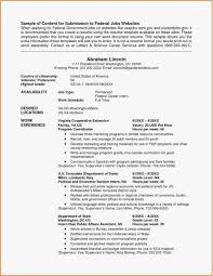 Federal Resume Template Word Examples Sample Cover Letter Federal