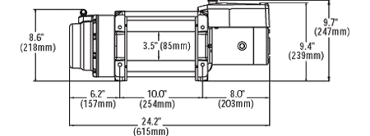 warn 68801 16 5ti thermometric self recovery winch quadratec ATV Winch Wiring Diagram above performance specs are based on first layer of drum