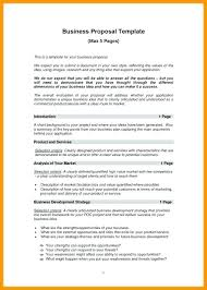 Basic Business Plan Outline Free Basic Business Proposal Template Business Proposals Format