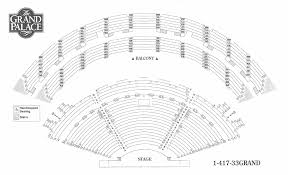 Seating Chart For Branson Missouris Grand Palace Theater