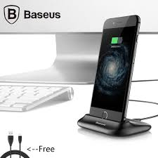 basus desktop stand desktop charger cradle data sync charger for iphone 5 5s 6 6 s