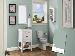 Bathroom Color Schemes Pictures White Wooden Cupboard Vintage Wall ...