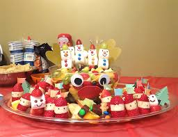 How To Decorate Fruit Tray Fruit Tray for Kid's Christmas Party 100 Working Mom's Edible Art 43