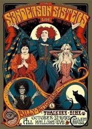 in honour of birthday bette midler december a hocus pocus poster by artist miles teves featuring the sanderson sisters billy