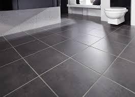 simple black bathroom floor tile