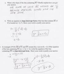 equation of a line passing through two points worksheets