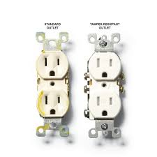 install an electrical outlet anywhere a standard outlet and a tamper resistant outlet construction pro tips