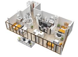 amazing 25 two bedroom house apartment floor plans 2 bedroom apartment plans 3d