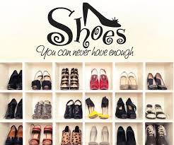 shoe wall art stickers