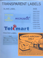 Tranparent Labels Transparent Labels At Best Price In India