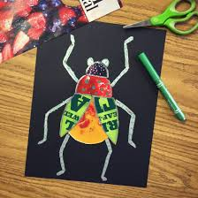 Example Of A Collage Bug Magazine Collage Art Projects For Kids