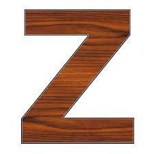 large wooden letter z google search