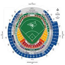 Rogers Centre Detailed Seating Chart Seating Map Mlb Com