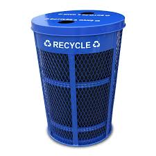 expanded metal recycling receptacle expanded metal outdoor container