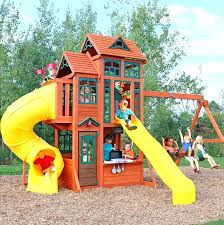 children outdoor playhouse garden kid slide wooden swing kids ideas instructions play house decorating small spaces with mirrors