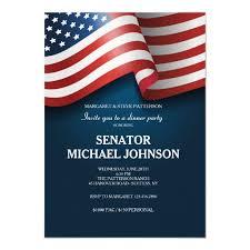 Political Fundraising Invitations American Flag Political Fundraising Invitation