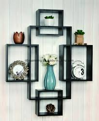 china interlocking wooden wall shelf