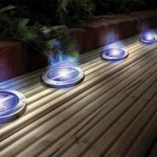 solar patio lights. Unique Lights Solar Powered Stainless Steel Blue Deck Lights Envirogadget Patio  For U