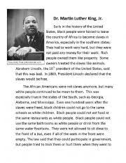 martin luther king jr worksheet by pmillerbbkz english worksheet martin luther king jr