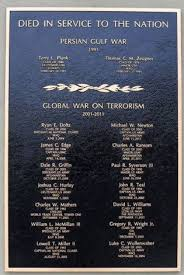 best gulf wars images american war operation  plaque honoring vmi alumni killed in persian gulf war and global war on terrorism