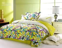 purple and yellow comforter whole purple blue green modern striped pattern full queen bedding comforter quilt