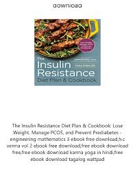 The Insulin Resistance Diet Plan Cookbook Lose Weight