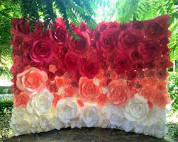 Giant Paper Flower Backdrop Large Paper Flowers Paper Flower Backdrop Giant Paper Flowers