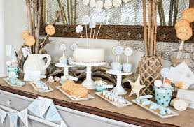 Birthday Party Table Decoration Ideas. Beach Themed Dessert Birthday Table  For Adults