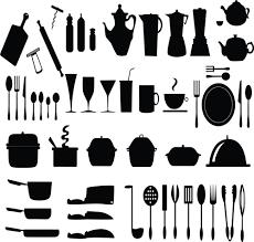kitchen utensils silhouette vector free. Kitchen Utensils Vector Silhouettes Free 1.42MB Silhouette All-free-download.com