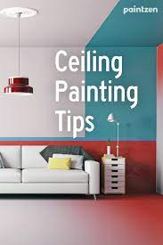 ceiling painting tips bedroom wall
