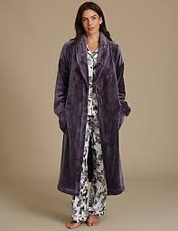 Dressing Gowns | Marks & Spencer London US & Shimmersoft™ Tie Front Dressing Gown ... Adamdwight.com