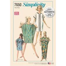Simplicity Pattern 40 Misses' Vintage Caftan Dress Sewing Extraordinary Simplicity Patterns
