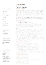 Network engineer CV sample, CV examples, technology job description,  networking, field work, MCSE